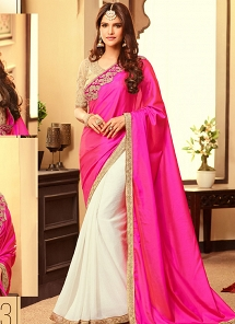 Integral Multi Color Silk Georgette Party Wear Saree