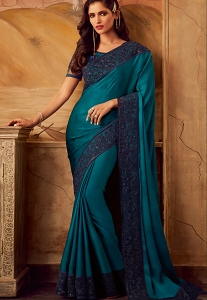 Blue Art Silk Party Wear Saree - 5112