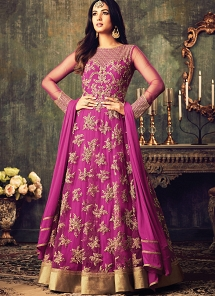 Sonal Chauhan Magenta Georgette Floor Length Anarkali Suit
