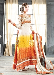 Splendid Multi Color Georgette Butti Work Anarkali Suit
