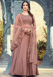 Sonal Chauhan Pink Shade Georgette Long Anarkali Suit - 5507
