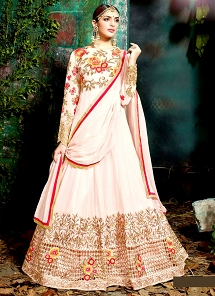 Angelic Light Pink Georgette Floor Length Anarkali Suit
