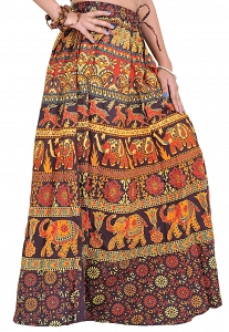 Jaipuri Rajasthani style Printed Skirt in Pure Cotton in different designs-Ethnic,Traditional,Formal,Boho-STJ75