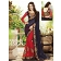 Glowing Combination Red & Blue Georgette Heavy Embroidered Saree
